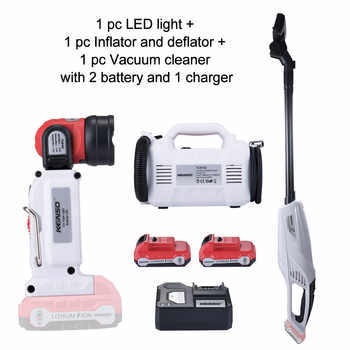 3-Piece Combo Kit KEINSO 12V Lithium-Ion LED Light Inflator and Deflator Combination 2-Tool Cordless Power Tool 2.0Ah Battery - DISCOUNT ITEM  30% OFF All Category