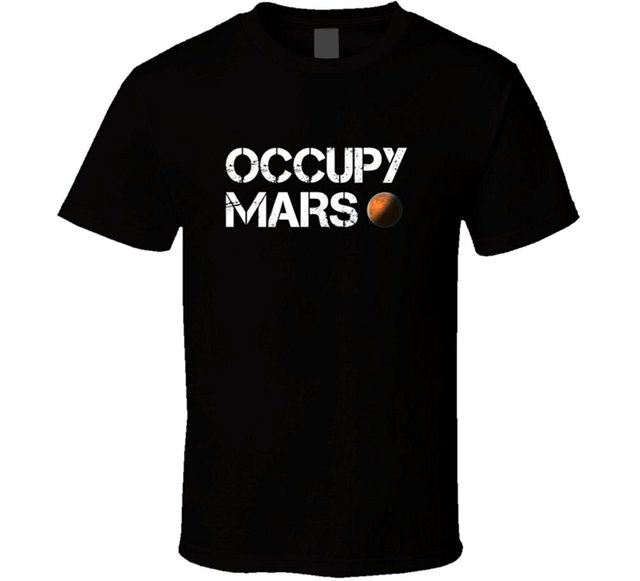 Occupy Mars Space Planet T Shirt