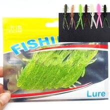Hot Sale 8pcs/Set Soft Silicone Artificial Soft Bait 7cm/1.8g Fishing Lure soft with salt smell Swim Bait Fishing Worm Lure 152