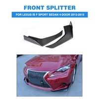 2 шт./компл. углеродного волокна автомобилей фартуки передний бампер разветвители губ закрылки Cupwings для LEXUS IS F Sport седан 4 двери 2013 2015