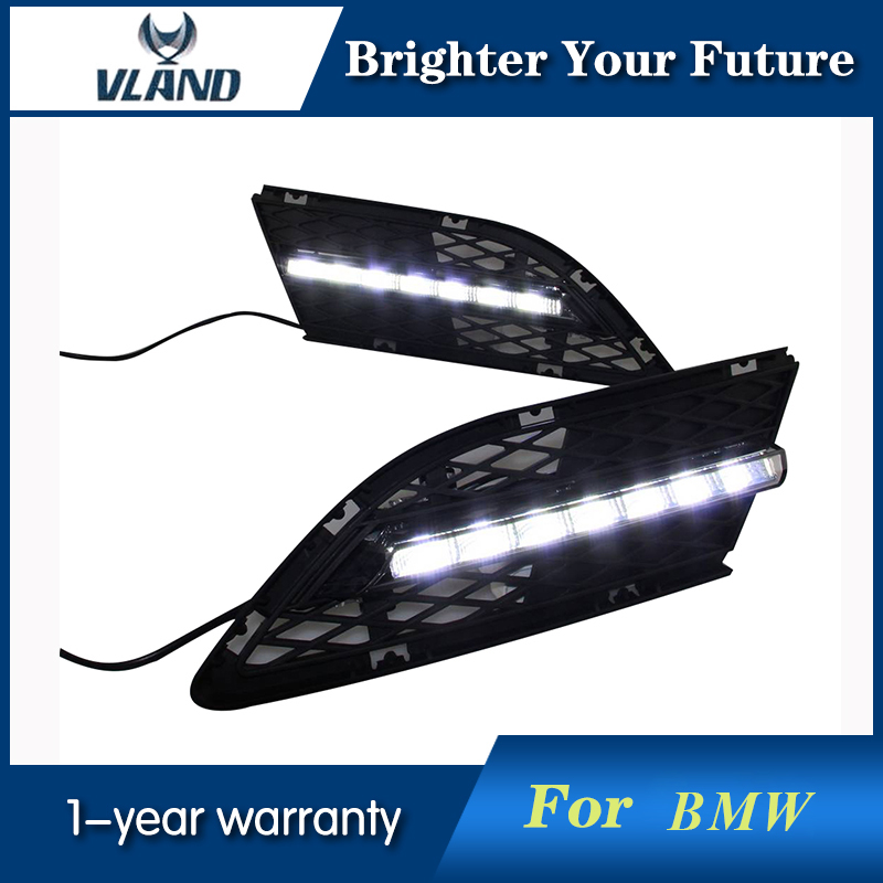 Vland Car Styling For BMW 3-Series LED Daytime Running Light DRL Drive Fog Lamp Fit For BMW E90 2009 2010 2011 2012 1 set daytime running light drl led fog lamp fit for2010 2011 2012 bmw e90 lci 3 series 328 335 car styling led day light