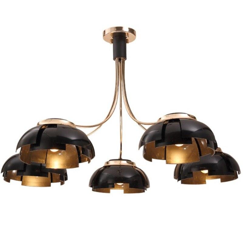 Пост современный позолоченный металлический потолочный светильник E27 светодиодная лампа потолочный светильник лампы внутреннего освещен