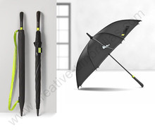 112cm auto open antique anti-thunder fiberglass business windproof umbrella yellow carrying belts waterpoof commercial parasol