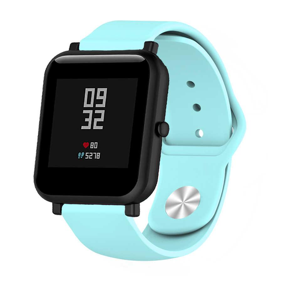 Bracelet souple en Silicone pour Xiaomi Huami Amazfit Bip BIT Lite montre intelligente pour les jeunes Bracelet pour Amazfit Bip Bracelet de montre 20mm