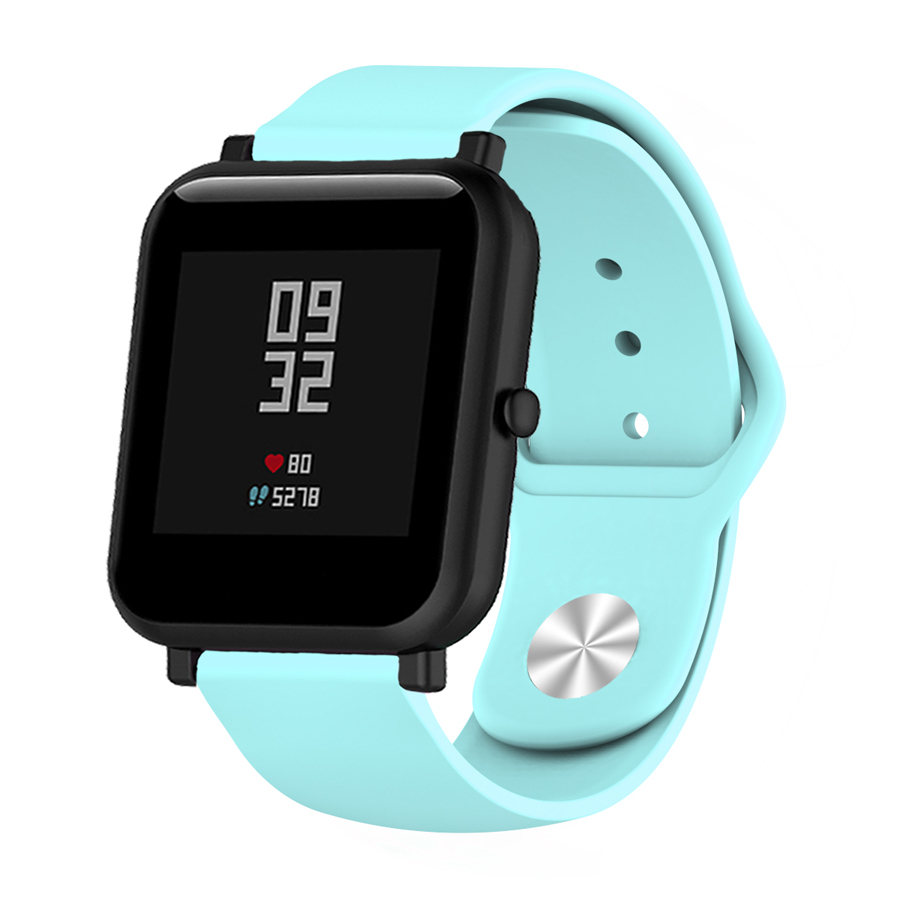 Image 3 - Silicone Soft Strap for Xiaomi Huami Amazfit Bip BIT Lite Youth Smart Watch Wrist Bracelet for Amazfit Bip Watchband 20mm Strap-in Smart Accessories from Consumer Electronics