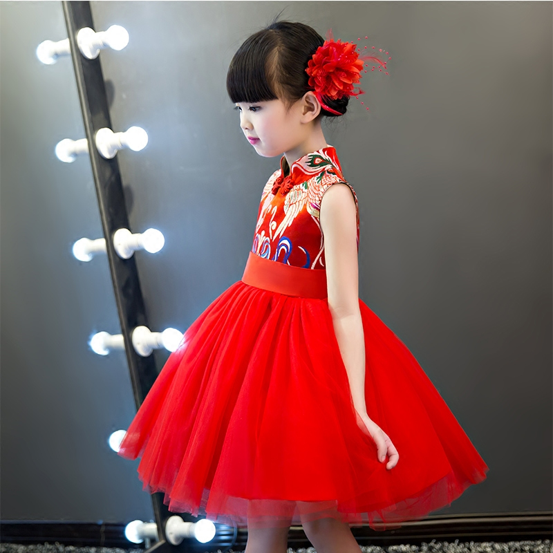 78bcac7c5 2019New Red Chinese Traditional Dress Girls Kids Wedding Dress Clothes  Chinese National Qipao Children Cheongsam Party Dress - aliexpress.com -  imall.com