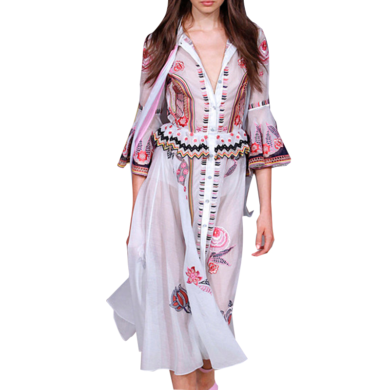 Aliexpress Com Buy Elegant Flare Sleeve Wedding Dress: Aliexpress.com : Buy Spring Summer Dress 2017 High Quality
