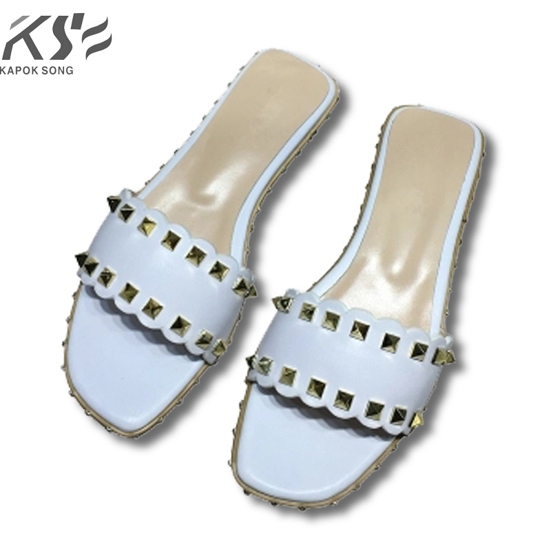 slipper new 2018 Revit slide sandals women luxury designer genuine cow really leather lady shoes V flats slippers women fashiona women sneaker cow really leather flats luxury brand designer shoes casual shoes new fashion model confortable shoes lady