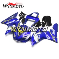 ABS Plastic Injection Blue White Covers New Complete Motorcycle Fairings For Yamaha YZF R1 2000 2001 Fairing Kit Cowlings