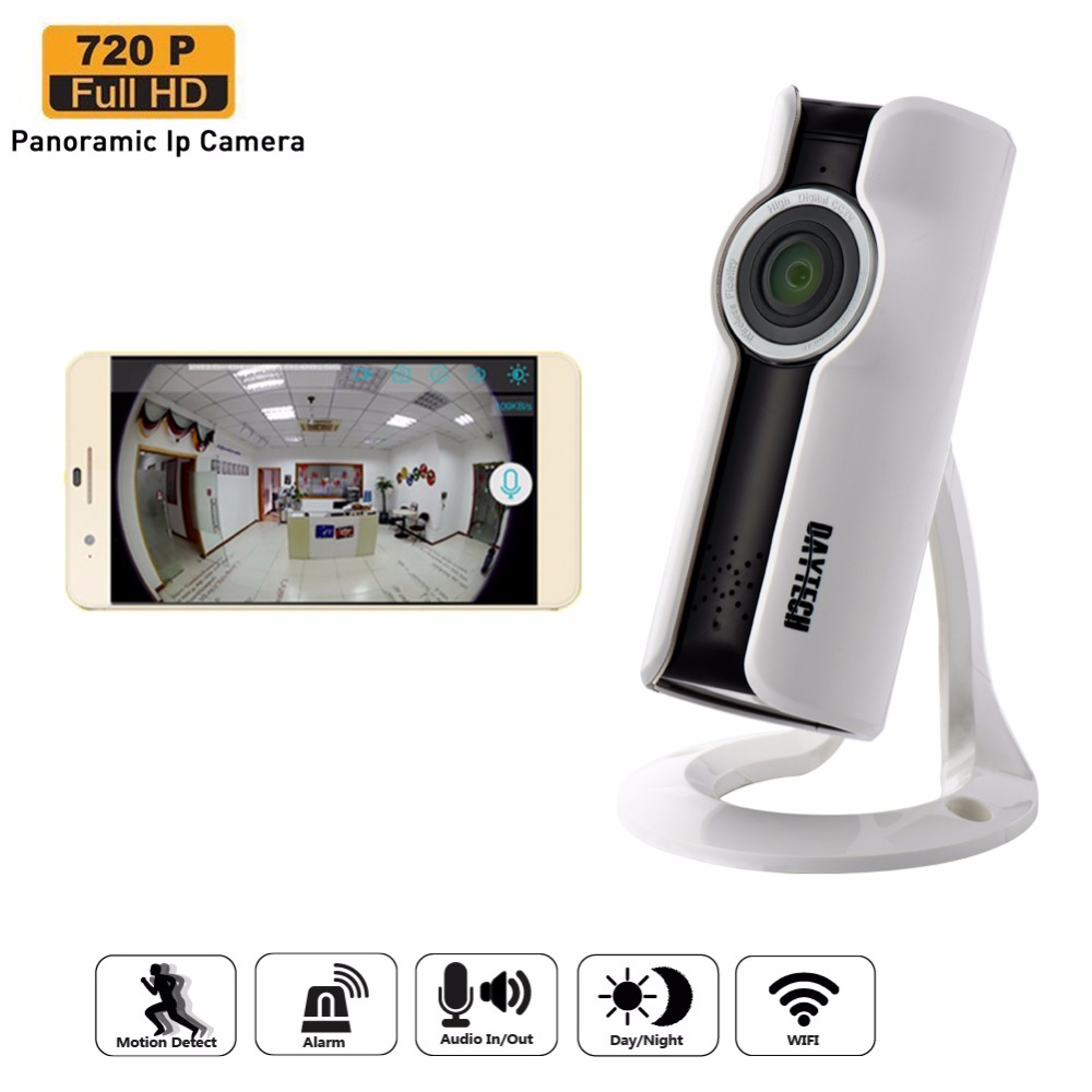 bilder für Daytech WiFi Ip-kamera Home Security Camera Mini Monitor Panorama Kamera Zwei-wege Intercom Nachtsicht Fischaugen-objektiv DT-C185
