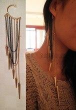 Fashion long Spike Ear Cuffs Tassel Earrings For Women Tatto Punk Jewelry Personality Single Jewelry Vintage Earings Jewellery