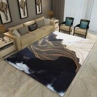 Dark Abstract Art Living Room Rugs Coffee Table 3D Carpet Luxury Postmodern Minimalist Nordic Yoga Pad Custom Christmas Decor