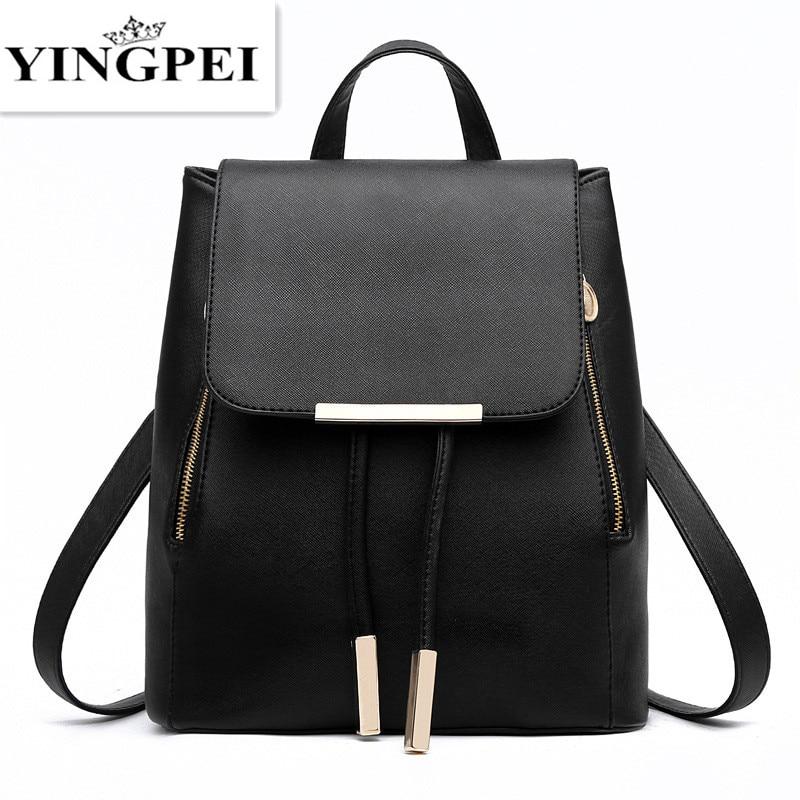 YINGPEI nahast bagpack naiste sülearvuti reisida moekooli kotid teismelistele ja tüdrukutele käekotis vaba aja veetmise kõrge kvaliteediga