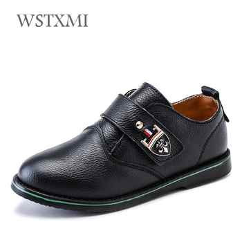 Boys Genuine Leather Shoes for Kids Wedding Show School Dress Flats Shoes Light Classic Children Performance Loafer Moccasins - Category 🛒 Mother & Kids