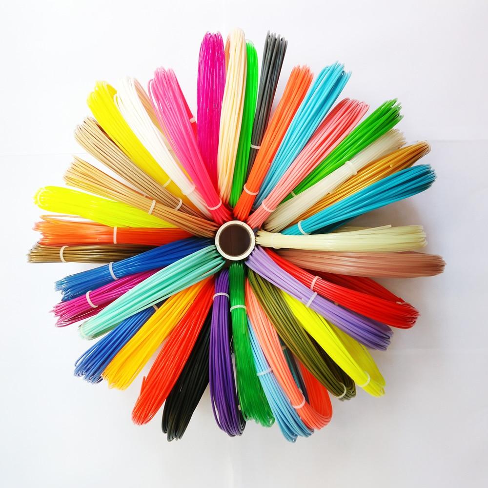 3D filament 20color filament Quality PLA 3D Pen Plastic Print Filament 20 Rolls 1.75mm 200M Plastic Filament for 3D Pen Printer