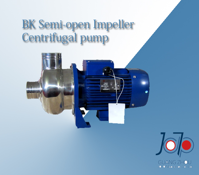 BK300D 220V 50Hz Single Phase Stainless Steel Centrifugal Pump For Transporting Soy Dregs Solid Impurities