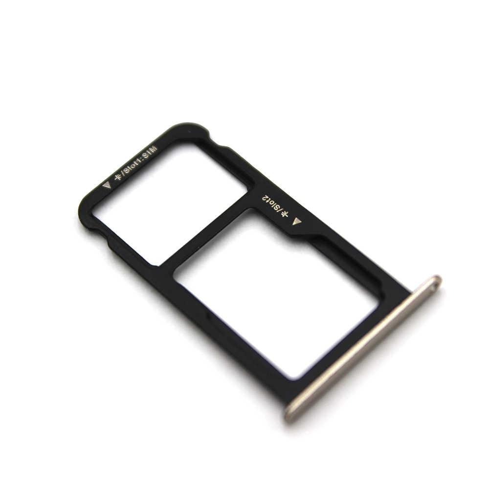 10 unids/lote para Huawei P9 lite nueva tarjeta SIM bandeja con tarjeta Micro SD bandeja soporte de ranura parte de reemplazo
