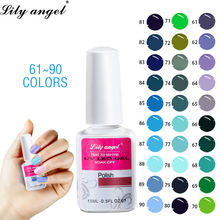 Lily Angel Gel Nail Polish 15ml Long Lasting Varnish lED UV Stamp Lacquer Nails Art Decoration 61-90