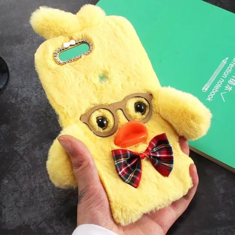 Beautiful Luxury Plush Case For Oneplus 5t 5 3 3t 2 One Soft Fur Cute 3d Duck Tpu Diamond Jewelry Proective Phone Case Cover Oneplus 5t