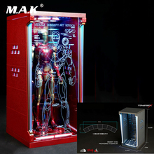 Collectible 1/6 Figure Scene Accessories Hall of Armor Iron Man Dust Box Display Case Model without Draw for 12'' Action Figure