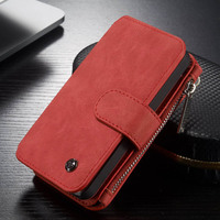 For Apple IPhone 5S Case Luxury Detachable Folio Magnetic Cowhide Leather Wallet Cover Cases For IPhone
