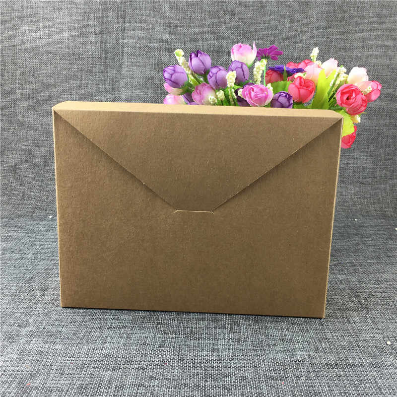 30Pcs Natural Solid Brown Kraft Paper Cardboard Box for Birthday Big Gifts Scarf Carrying Cases Packaging Carton Box Customized