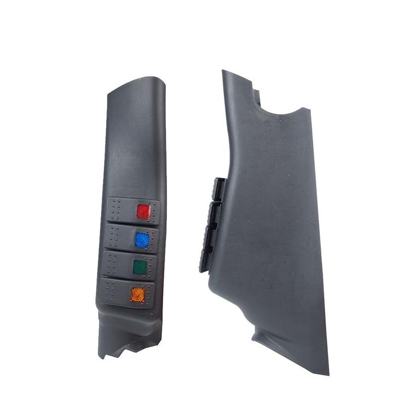 US $21 24 16% OFF 1Set Black A Pillar Switch Left Hand Pod Panel 4 LED  Rocker Switch for Jeep Wrangler JK 11 16 Left hand drive model-in Car Light
