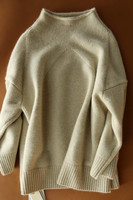 בז 'בראון נשים אופנה מעיל אפודה מזדמן קשמיר stand-צוואר לעבות S/2XL סיטונאי הקמעונאי