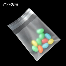 5000pcs/lot 7*7+3cm Matte Clear Cookie Packaging Bag Translucent Candy Biscuit Storage Pouches Self adhesive Wrap Plastic Bags