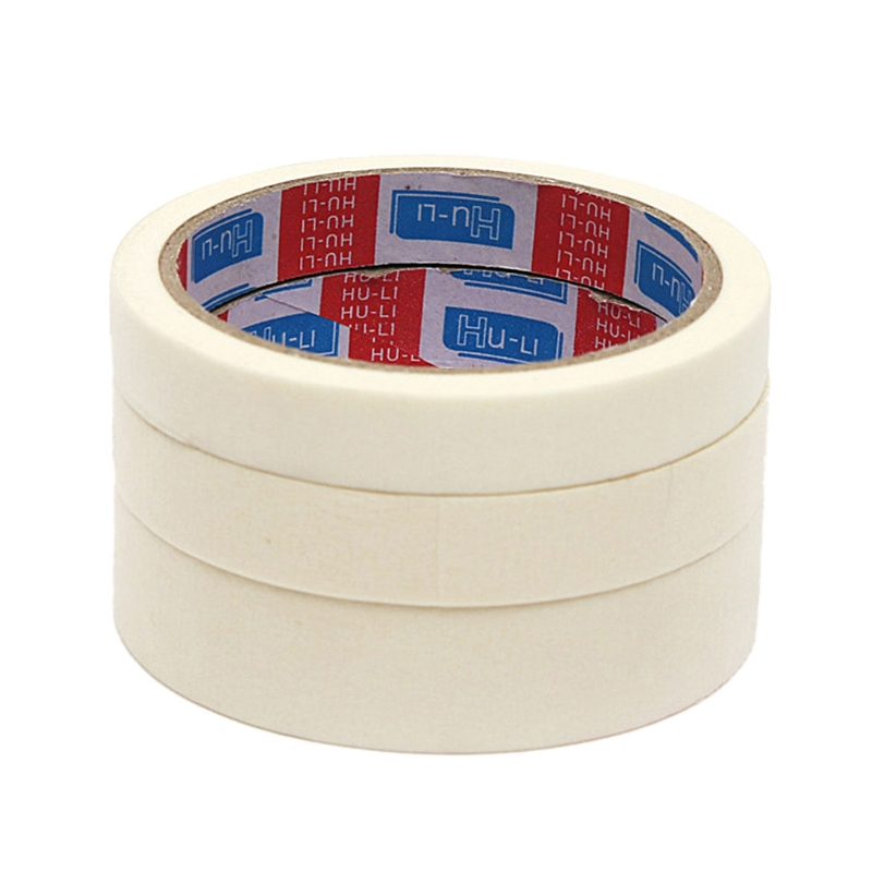 1 Roll / 14M High Quality  Masking Tape 15/ 18/ 24 Mm Single Side Tape Adhesive Crepe Paper For Oil Painting