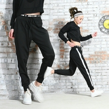 2017 Loose Lulu Yoga Pants Workout leggings Tights Running Athletic Sport Women Fitness Sportwear Gym Trousers Sports leggins(China)