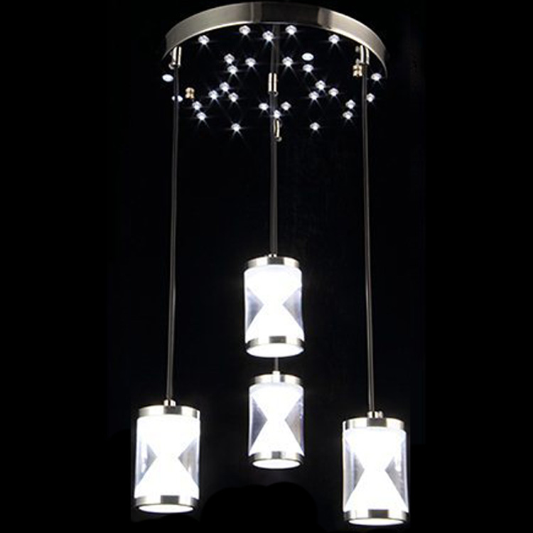 led restaurant chandelier three modern simple chandelier creative dining room lights fashion pavement table lamp hourglass - Chandelier Table Lamp