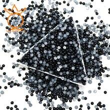 Черные полукруглые жемчужины 1,5 мм-8 мм для дизайна ногтей, полукруглые жемчужины, имитация ABS полукруглые бусины с плоским основанием, 3D украшения для дизайна ногтей
