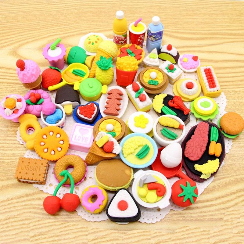 Creative Food Eraser , Various Kinds Of Dessert Food Pencil Eraser For School Kids