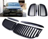 Gloss Black Front Kidney Grill Grilles For BMW Saloon For E90 E91 2005 2008 4D