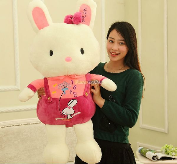 Fancytrader 37'' / 95cm Super Lovely Stuffed Soft Plush Giant Braces Rabbit Bunny Toy, 2 Colors Available, Free Shipping FT50885 stuffed plush toy large 95cm lovely