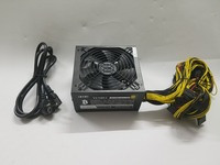 ETH ZCASH MINER 90 PLUS GOLD Power Supply 1500W 12V 125A With Power Cable Suitable For