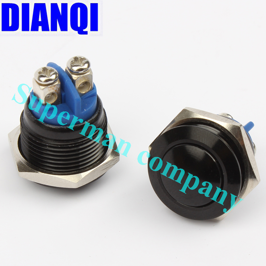 16mm momentary Push Button Switch ball shaped 1NO domed waterproof Alumina black press start button self-reset 16QYQX.F.L-BL 5pcs lot 3 colors new arrival mini lockless on off push button switch press the reset switch ve062 p0 4