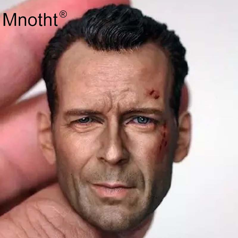 Bruce Willis Head Sculpt 1/6 Scale Male Soldier Resin Head Carving for 12in Action Figure Toy Collection Movie Role Model Mnotht цена
