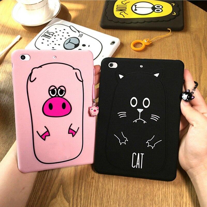 3D Cute Case For Ipad Mini Cartoon Bear Pooh Stitch Mike Minnie Bear Soft Silicone Case Cover For Ipad Mini 2 3 Screen Film