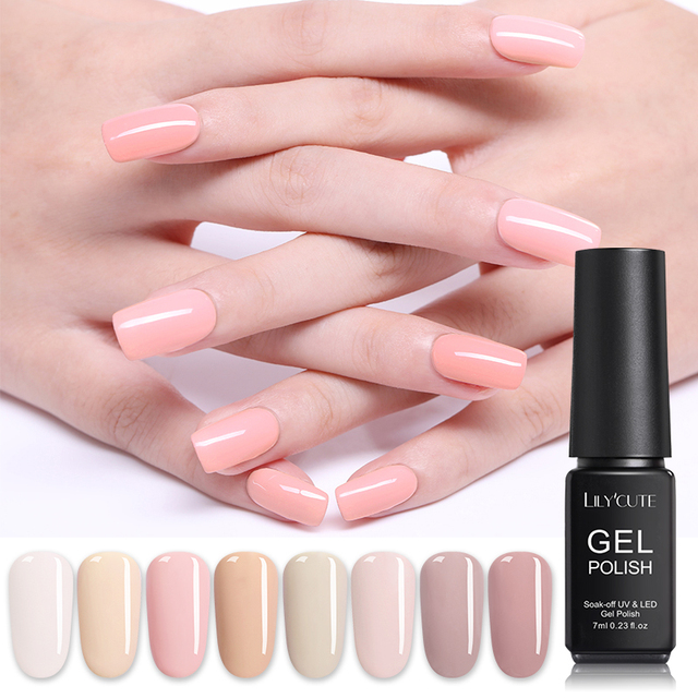 LILYCUTE 7ML Nude Pink  Series Pale Mauve Gel
