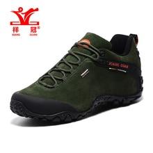 XIANGGUAN Натуральная Кожа прогулки мужчины скальные туфли спортивная обувь мужчины походные ботинки горные ботинки non-slip открытый туризм обувь