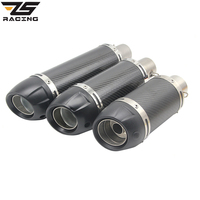 ZS Racing 51mm Motorcycle Modified Scooter Akrapovic Yoshimura Exhaust Muffle Pipe GY6 CBR CBR125 CBR250 CB400 CB600 YZF FZ400