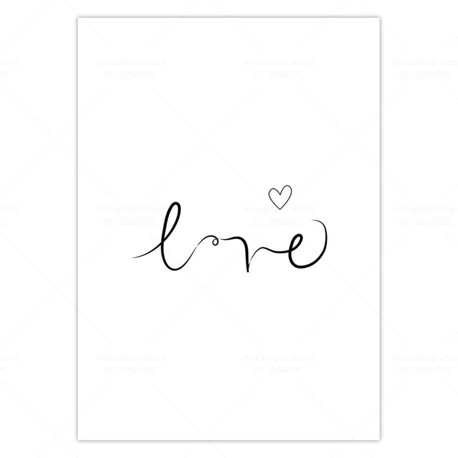 الاسكندنافية المشارك قماش طباعة هاكونا ماتاتا جدار الفن الحب ملصق بساطتها هندسية قماش اللوحة المنزل الديكور الصورة