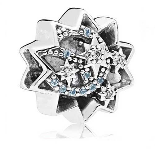 เหมาะกับ Pandora Charms เงิน 925 สร้อยข้อมือสำหรับสตรีใหม่ 1pc จัดส่งฟรี Love Mickey Swan ดอกไม้ Spacer คลิป DIY ลูกปัด