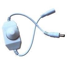 Светодиодный диммер переключатель Яркость настроить контроллер для 3528 5050 5730 5630 один Цвет полосы светильник AC/DC 12V 24V черный/белый