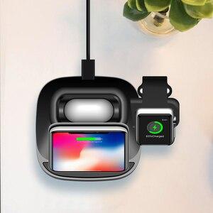 Image 3 - 3 в 1 Быстрая Зарядка Qi Беспроводное магнитное зарядное устройство для Apple watch 2 3 4 5 6 Airpod Беспроводное зарядное устройство для iPhone крепление док станция