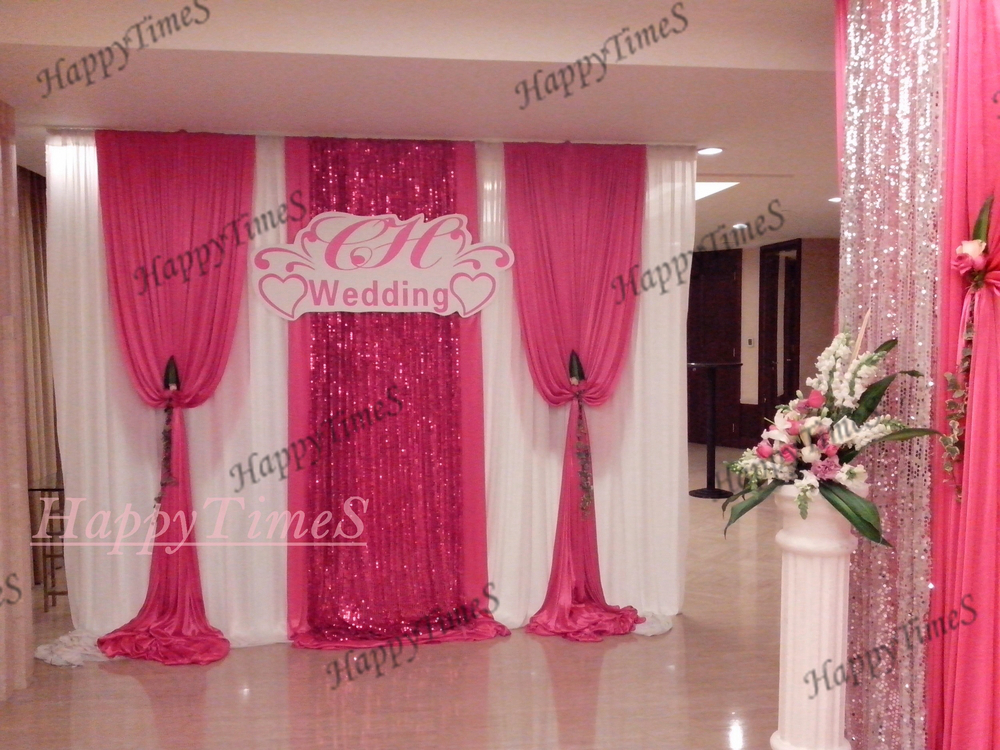 Buy wedding decoration wedding banquet for Background curtain decoration