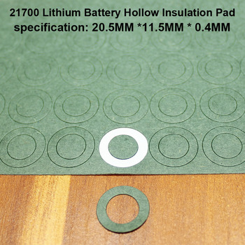 100pcs/lot 21700 Lithium Battery Positive Insulation Gasket Hollow Flat Head Pad Insulation Meson Head Gasket 20*11.5MM 100pcs lot lithium battery positive hollow insulating mat 21700 flat head insulation mat meson paste head gasket 20mm 11 5mm