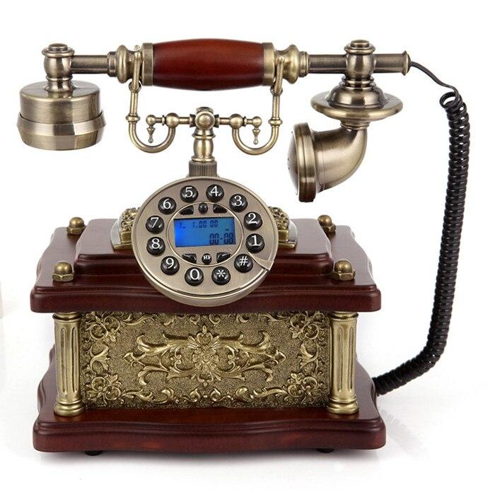 The new European antique telephone telephone landline home landline wood corded phone ringing tones